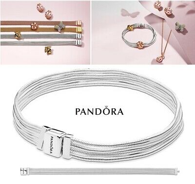 NEW Authentic PANDORA Reflexions™ 925 Multi Snake Chains Charm Bracelet 597943