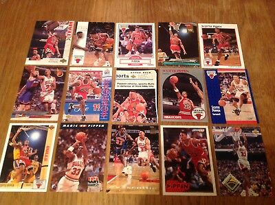 Nice Lot Of Scottie Pippen NBA Basketball Trading Cards