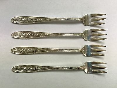 Four (4) Rare Shrimp Forks - WEDGWOOD Pattern Sterling by INTERNATIONAL- 1924