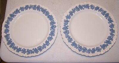 Wedgwood Queensware Lavender on Cream (Shell Edge) Dinner Plate - Set of 2