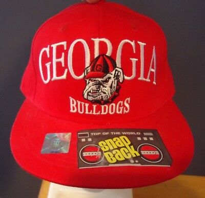 a4571d213c0 Georgia Bulldogs So Fresh Red Snapback Hat Cap Brand New Red Top Of The  World