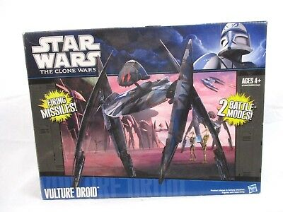 Star Wars The Clone Wars Vulture Droid Starfighter 2011 New Open Box Bin U