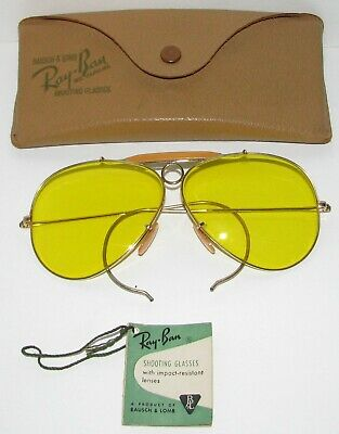 1db2e5496c VINTAGE RAY-BAN SHOOTING Glasses by Bausch   Lomb. Original Case ...