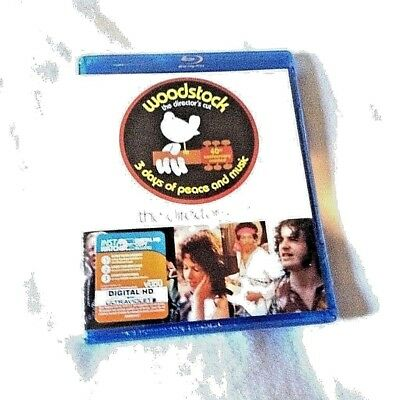 WOODSTOCK: 3 DAYS OF PEACE AND & MUSIC~THE DIRECTOR'S CUT ~ NEW~3 Discs Blu-ray