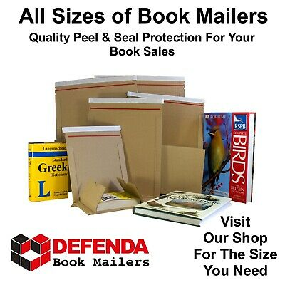 Peel & Seal Book Wraps Mailers Postal Postage Boxes Mailing CD's DVD's Box Size