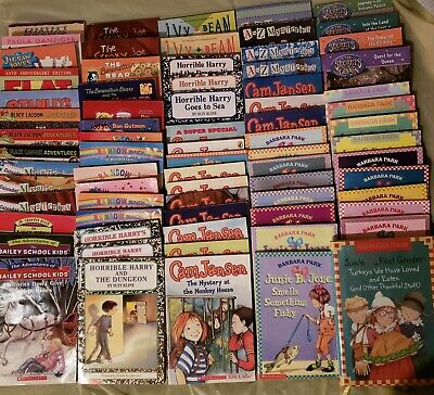 Huge Children's Chapter Book Lot  Ages 7 to 10 - 74 Titles Junie, Cam, Harry +