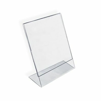 "Azar 112714 Vertical Slanted L-Shape Acrylic Sign Holder Display 8.5""x11"" 10 Ct"