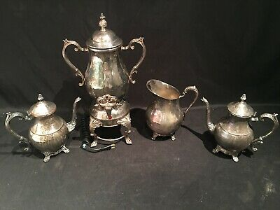 1883 FB Rogers Silver 3707 Water Pitcher 4354 Samovar 2- 2391 Teapot Silverplate