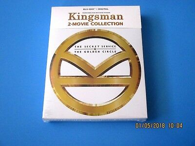 KINGSMAN Secret Service & Golden Circle (Blu-ray + Digital)  2-Movie Collection