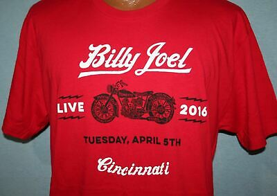 BILLY JOEL 2016 Tour Cincinnati Ohio Concert T-SHIRT L Motorcycle RARE