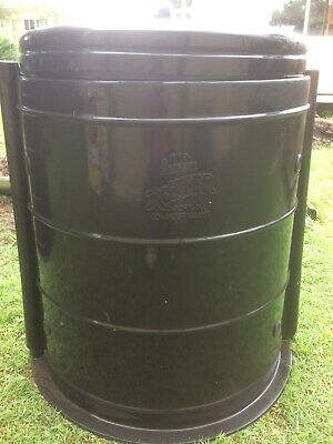 Compost bin, portable, black , used, good condition, The Aussie Rotter