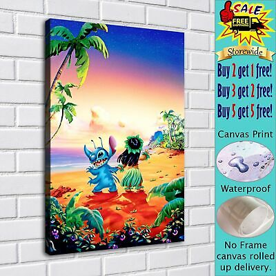 """Lilo & Stitch HD Canvas Print Painting Home Decor room Wall Art Picture 16""""x22"""""""