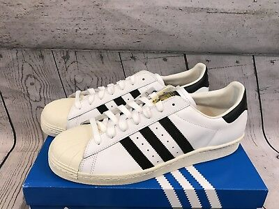 competitive price c7689 44186 Adidas Originals Mens White Black Superstar 80s Sneakers Shoes Size 12 NWT