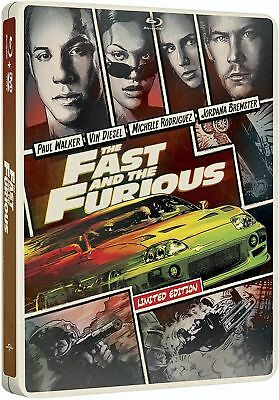 STEELBOOK - The Fast and the Furious (Blu-ray+DVD+ Includes Digital)