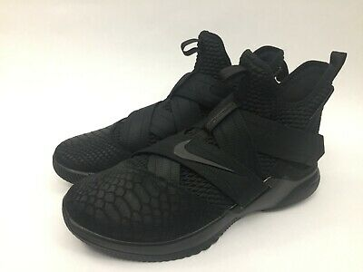 c154276918f NEW MENS NIKE Lebron Soldier 12 XII SFG Size 12 Triple Black AO4054 ...
