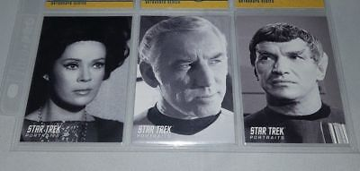 Star Trek TOS 40th Anniversary Ser 2 PORTRAITS x3  PT28 PT30 PT33, Odds 1 in 8
