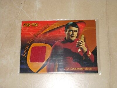Star Trek Quotable TOS C2 Montgomery Scott costume card binder exclusive