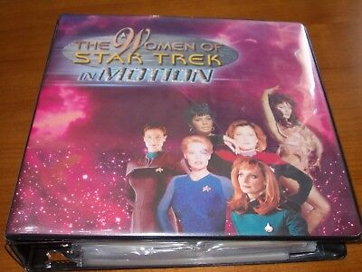 The Women of Star Trek in Motion complete set, Sound cards, binder & Extensions