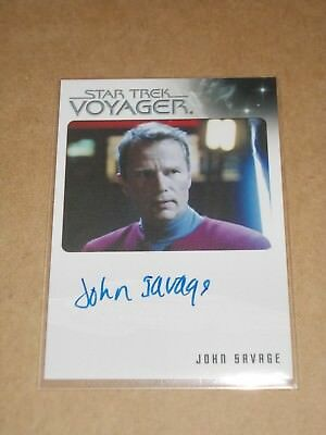 Star Trek Quotable Voyager John Savage as Captain Rudy Ransom autograph