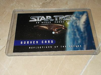 Star Trek 30 Years Phase One fron Skybox Survey Card MINT NUEVA