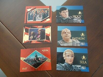 Star Trek The Next Generation TNG Season Five Chase Set 6 Cards Mint S25 to S30