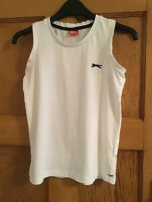 Slazenger White Sports Top Vest Age 11  to 12 years