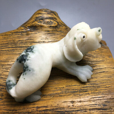 131g China's exquisite hand-carved dushan jade dog a31