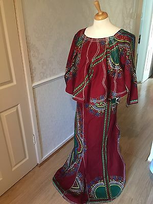 AFRICAN Mali WRAP &Top 3pieces fishtail style
