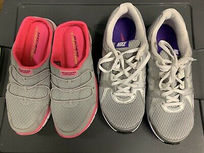 best service b3955 de49e Nike Dual Fusion ST3 Running Shoes,  456970-006 Womens With Skechers Used