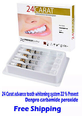 24Carat advance tooth whitening system 22%Prevest Denpro carbamide peroxide 3pcs