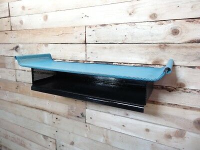 1960s RETRO DUTCH TOMADO BLACK & BLUE COLOURED WALL SHELVING