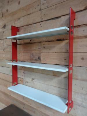 1960s RETRO DUTCH COLOURED METAL  TOMADO  WALL SHELVING (B2)