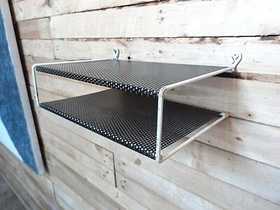 1960s RETRO DUTCH TOMADO BLACK & WHITE COLOURED WALL SHELVING