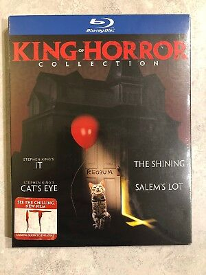 King Of Horror 4 Movie Collection Blu Ray NEW Canada w Slip Cover IT Shining