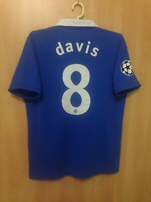 Rangers Scotland 2010/2011 Home Football Shirt Jersey Steven Davis #8