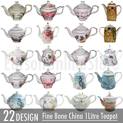 Ceramic Fine Bone China Teapot 1Litre Novelty Coffee Tea Pot Collectable Kettle