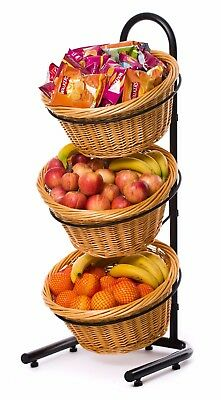 3 Tier Wicker Basket Display Stand - NOW ON SALE!