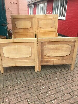 A Lovely Pair of Antique/Old Pine Standard Single Beds