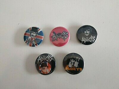 The Adicts band buttons set of 5! (badges, pins, 25mm, punk, patch)