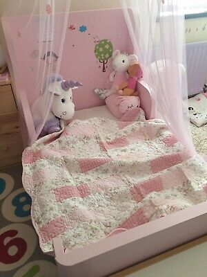 Annie Pink Print Patchwork Quilt Baby Bed Coverlet/Blanket Play Mat/Rug