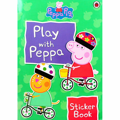 Peppa Pig Play with Peppa Sticker Book Kids Activity Puzzles Games Colour Art