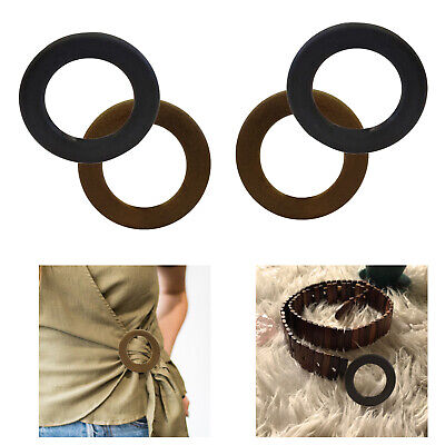48mm Round Wooden O Rings Buckles for Ladies Womens Webbing Leather Crafts DIY