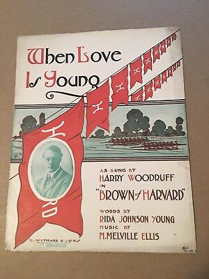 YOUNG LOVE SHEET Music Words and Music by Carole Joyner and