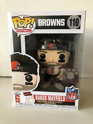 BAKER MAYFIELD #6 CLEVELAND BROWNS FUNKO POP FIGURE #110 ROOKIE IN STOCK