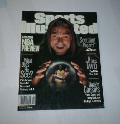 1999 NEWSSTAND ! Sports Illustrated SHAQ & KOBE Bryant PHIL JACKSON  LA LAKERS !