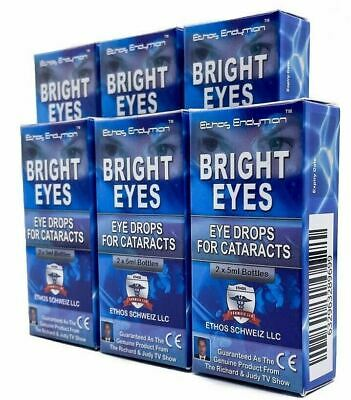 Ethos Bright Eyes Drops for Cataracts Vision Improvement Naturally 6 Boxes 60ml
