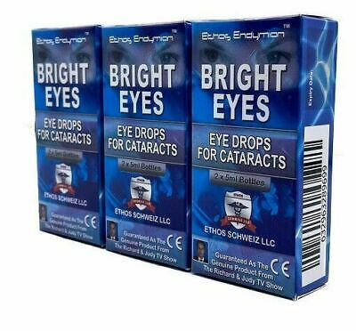 Ethos Eye Drops for Cataracts N-Acetyl-Carnosine Bright Eyes 3 Boxes 30ml