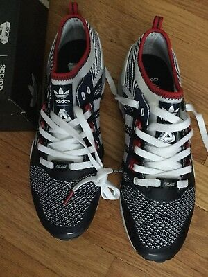 810fe4d0068e Adidas X Palace Skateboards EQT Mens 8.5 Sneakers New In Box Blue Red White  Pro