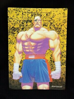 #64 Sagat - Super Street Fighter II - Carddass Masters Trading Card Bandai 1997