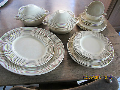 **SUSIE COOPER-PARTIAL DINNER SET-1930s-27 PIECES